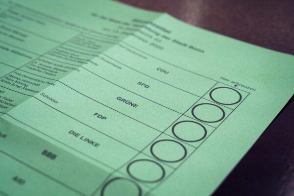 Die Wahl: Ein Wahlschein