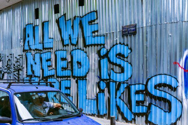 All we need are Likes - Grafitti